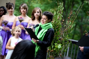 Eve reading at my wedding.